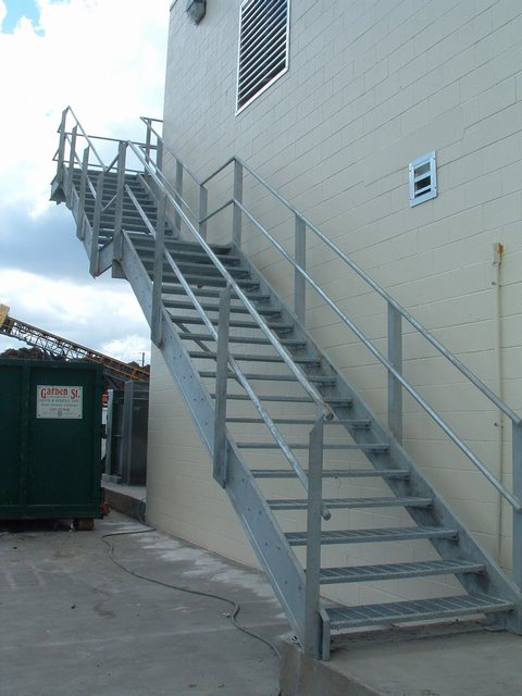 Exterior Galvanized Grating Tread Stairs