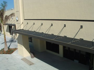 Pre-finished aluminum canopies & Misc. Fabrications
